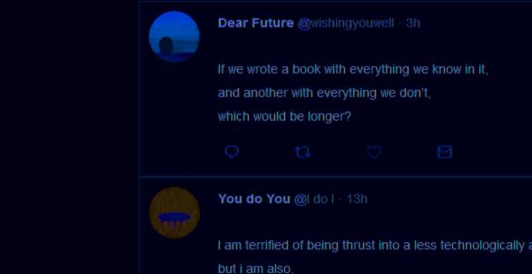 11 Twitter, dear future wishing you well