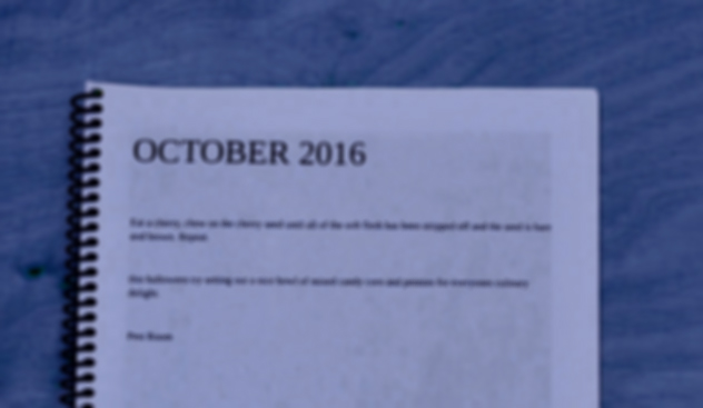 OCTOBER 2016